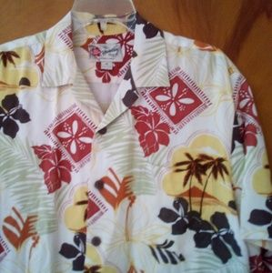 Hilo Hattie Hawaiian Shirt Men's Medium